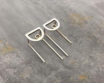 Play Geometric D Shaped Earrings