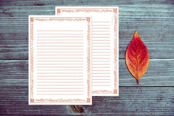 printable stationery red border lined paper printable letter