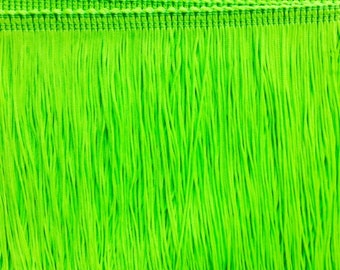 7'' Neon color Chainette Fringe Trim (Neon Coral. Neon Yellow.Neon Green.Neon hot pink.Neon Fuchsia)