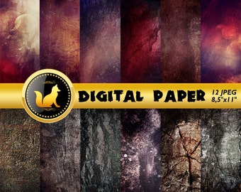 Black Red Distressed Background,Old Wall Scrapbook Paper,white Paper,Chilled paint Background,Old Wall Backdrop,digital paper,grey paper