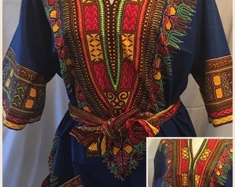 Dashiki top with a belt (colors may change daily)