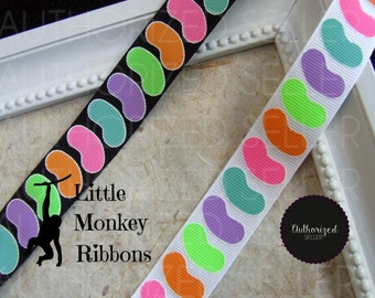 Jelly Beans, You know you're Jelly, lolly ribbon, bow supplies, craft supplies, scrapbooking supplies, grosgrain ribbon