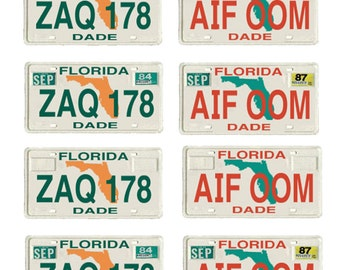 scale model Miami Vice Florida license tag plates