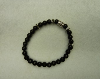 Bracelet with black beads