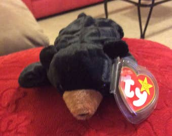 """Retired RARE Mint condition Ty """"Blackie"""" beanie baby"""