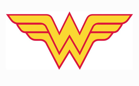 Wonder woman superhero svg dxf png birthday party cut file silhouette studio edition cricut - Wonder woman logo vector ...