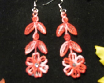 Cindy Embroidered Earrings