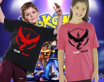 Pokémon Shirt, Pokémon GO Team Valor T-Shirt, Team Valor Shirt, Moltres Soft High Quality Vinyl Unisex Kid Youth Tee T-Shirt