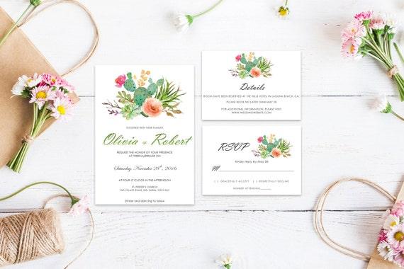 Floral wedding invite word_44,INSTANT DOWNLOAD, Editable Wedding template invitation. Microsoft Word template.Wedding Printable