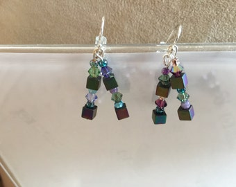 Hematite Cube earrings