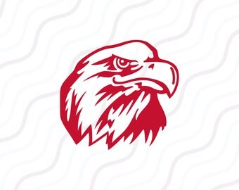 Eagle Head SVG, Eagle Clipart, Eagle SVG Cut table Design,svg,dxf,png Use With Silhouette Studio & Cricut_Instant Download