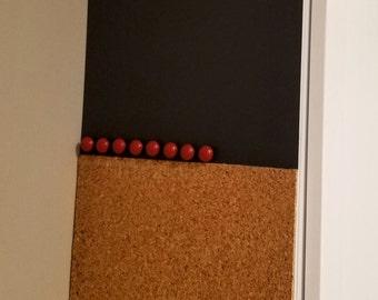 Magnetic Chalkboard & Corkboard Message Center