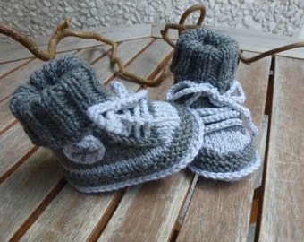 """First sneaker"" Merino Wool baby shoes size and colour selectable"
