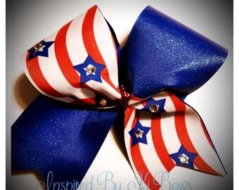 Patriotic Cheer Bow