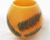 Nature gifts-Fern leaves-Beeswax Luminary-Candles with leaves-Fern leaf art-Natural luminary-Fern Candles