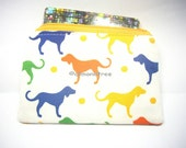 Rainbow of Dogs, women wallet, small padded pouch, zipper coin purse, id1370589, portefeuille, moneybag, cosmetic toiletry, id case