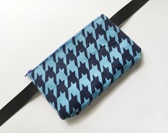 Blue Houndstooth- Fanny Pack/ Bike Bag/Hip Bag/Hip Belt/ Utility Belt