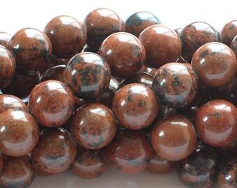 Mahogany Obsidian Round Gemstone Beads