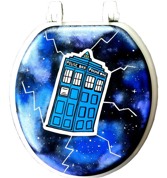 852 Bathtub Data Base Emails Contact Us Hk Mail: Doctor Who TARDIS Hand Painted Toilet Seat Rock Bathroom Decor