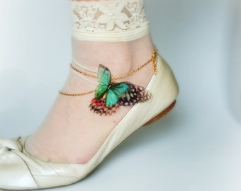 Butterfly Anklet or Shoe accessory