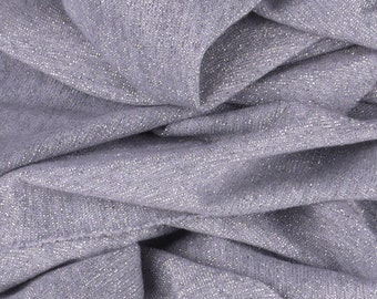 """Silver and Grey Jersey Fabric - 60"""" Wide - 2 1/4 Yard (PV-962)"""