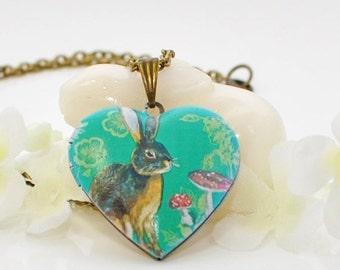 Bunny Jewelry Rabbit Locket Marten - Bunny Rabbit - Rabbit Necklace - Bunny Locket