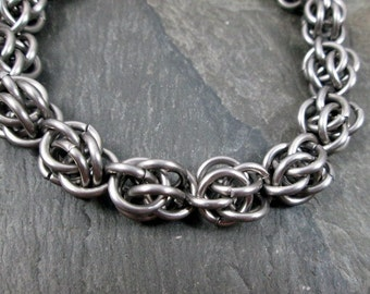 Chainmaille Bracelet - Steel Chainmaille - Sweetpea Bracelet - Stainless Steel - Chainmaille Jewelry