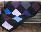 Cashmere Blanket . checkerboard blanket . checkerboard cashmere throw .  RESERVED FOR LISA