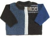 Baby Boy Cardigan . Recycled Sweaters . baby boy . wool sweater . unisex Baby Cardigan