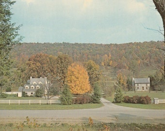 Vintage 1950s Postcard Renfro Valley Kentucky John Lair House Home Architecture Scenic Rural Rustic View Photochrome Era Postally Unused