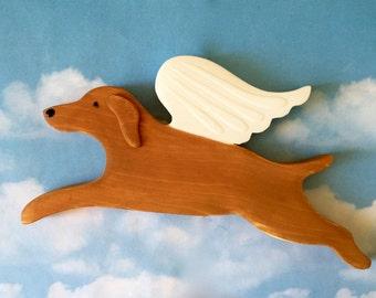 Vizsla Angel Dog Rustic Wood Decoration