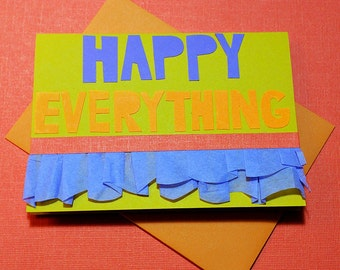 Happy Everything (Orange + Lavender) // Cards With Sass