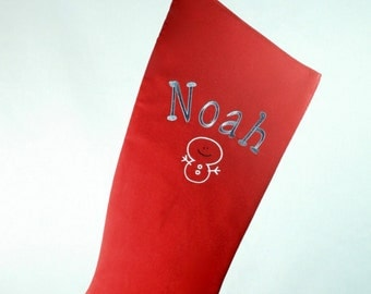 Embroidered Family Christmas Stocking