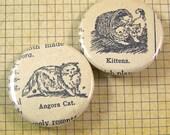 Cat Pinback Button Set
