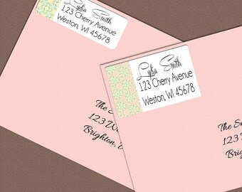 Custom Address Label Stickers, Personalized Return Address Label, Custom Label, Mailing Labels, Gift Tag, Gift Tag Stickers, Pastel Colors