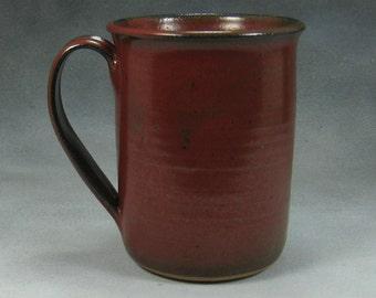 16 Ounce  Rust Red Ceramic Coffee Mug Coffee Cup Pottery Coffee Mug Hand Thrown Stoneware Pottery 22