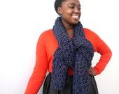 Blue Scarf, Winter Scarf, Oversized scarf, Big chunky knit scarf, Wool knitted scarf, Wool Scarf, Knitted Scarf, Chunky scarf