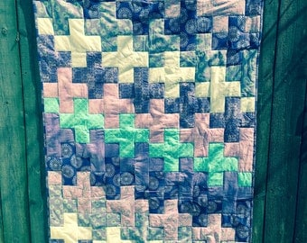 Amethyst Patchwork Quilt. FREE SHIPPING
