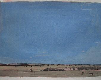 April End, Original Spring Landscape Painting on Paper, Stooshinoff