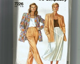 Simplicity Misses' Jacket, Skirt and Pants Pattern 7226