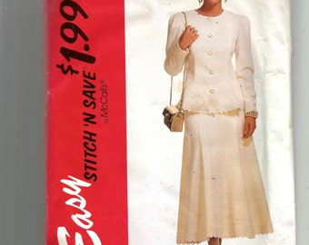 McCall's Misses' Two Piece Dress Pattern 6272