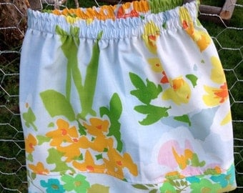 35% OFF CRAZY SALE- Garden Fancy Skirt-Wee Ones Eco Friendly Reclaimed Fabrics-Infant