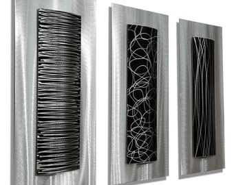 Nice Silver U0026 Black Modern Metal Wall Accent   Contemporary Metal Wall Art   Great Pictures