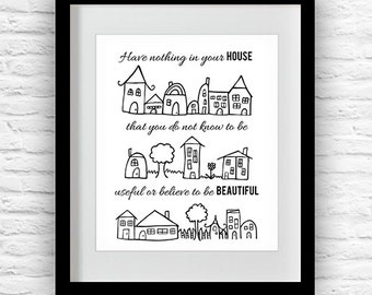 House Quote Digital Print Printable Download