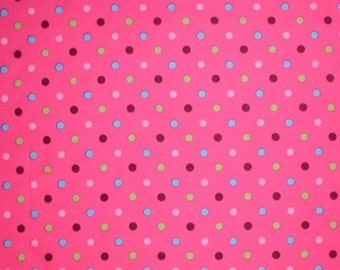 Polka Dot Fabric Dots Pink Turquoise Chocolate Brown Lime Green Multi Colored Polka Dot
