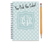 18 month planner with monogram, Start any month,  Personalized weekly planner, 2016-2017 2018 month customizable planner, SKU: epi dia m