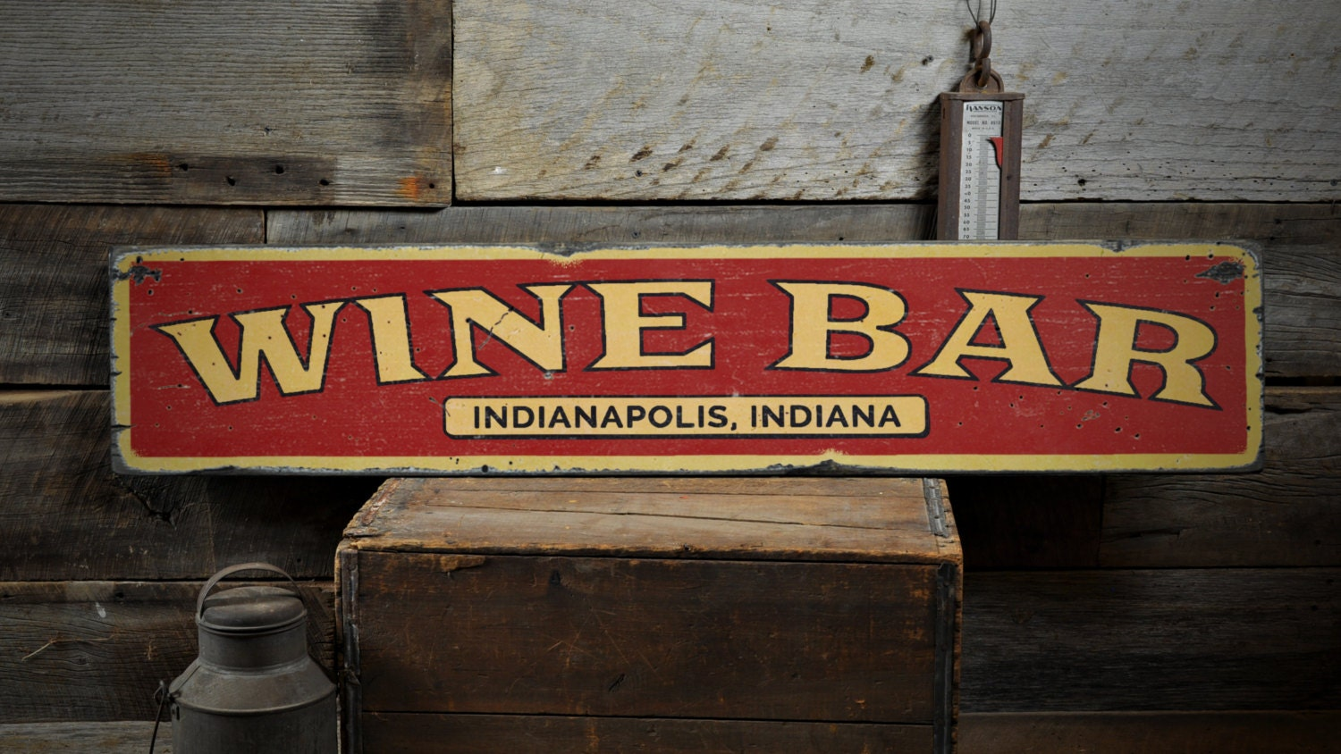 Wood Wine Bar ~ Wine bar wood sign custom location city state name