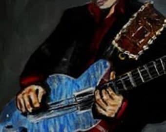 Carlos Santana, An Original Oil Painting, carlos santana, Origional Art, Figure Painting, music