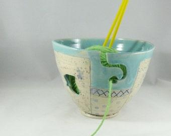 Large Handmade Ceramic Yarn Bowl YB79 Perfect for knitting or crochet yarn - unique yarn organizer - yarn bag alternative