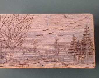 Barnwood PARADISE HILL SCENERY box - Rustic Refined